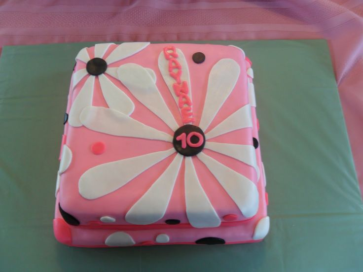 Girls Birthday Cakes | cake for a girl's 10th birthday. Cake is chocolate fudge with ...