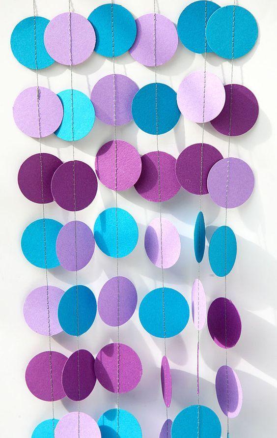 Mermaid party decoration Purple lilac blue by TransparentEsDecor:
