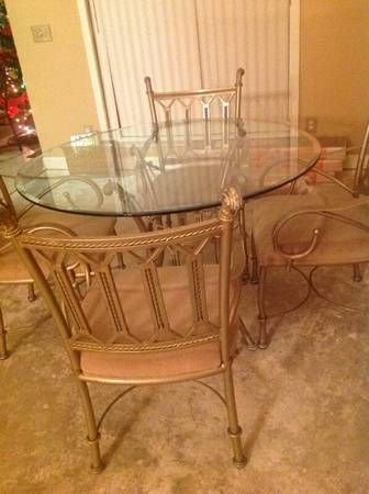 Rod Iron Kitchen Table! Perfect Condition! - $150