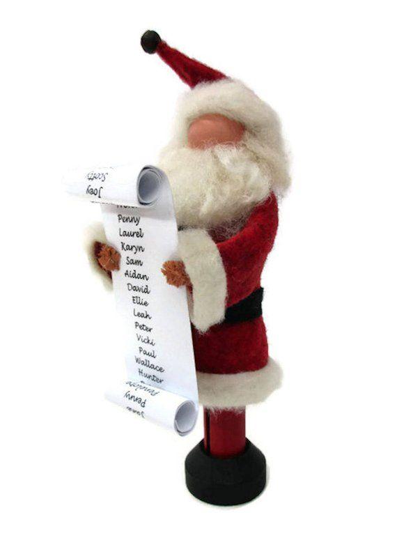 SANTA CLAUS CHECKING IT TWICE Naughty Nice List Hallmark Christmas Ornament NEW