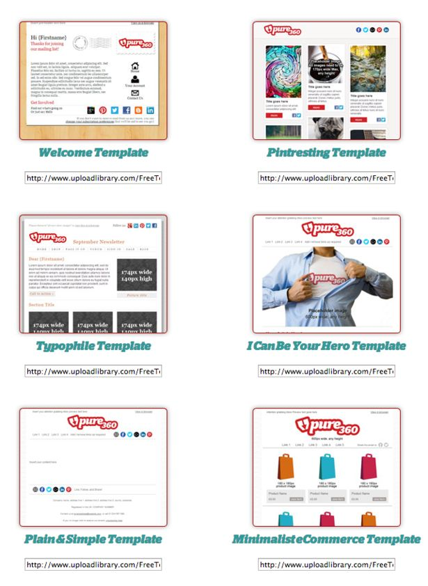 Best Email Templates Images On   Email Newsletters
