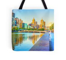 Melbourne Skyline Yarra Reflections from Southbank Tote Bag
