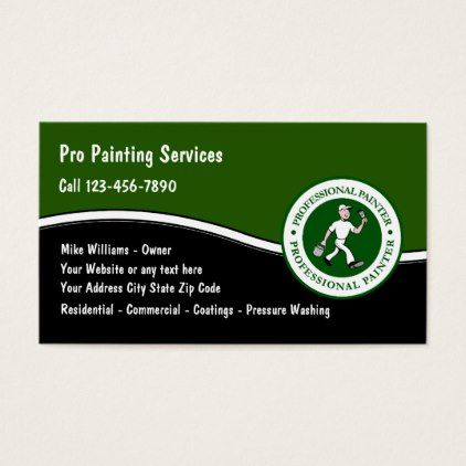 Professional Painter Service Business Card - retro gifts style cyo diy special idea