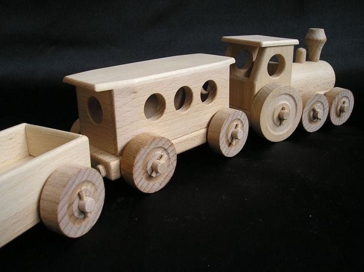 wooden train-models.  € 31,00 Handmade wooden toy trains for children. We ship orders worldwide. www.soly-toys.com