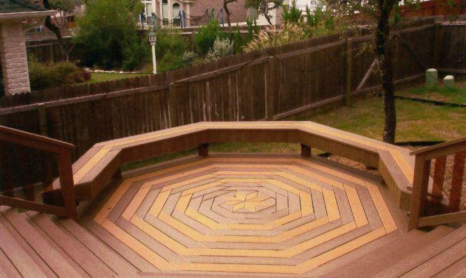 Here Cool Octagon Shaped Custom Deck Design Building Plans Online 8323 Building A Deck Custom Deck Railing Decks Backyard