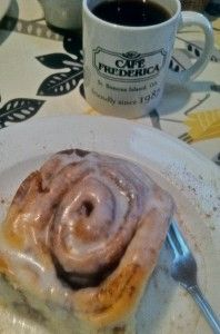 You've got to try the giant cinnamon roll at Café Frederica on St. Simons Island, #Georgia!
