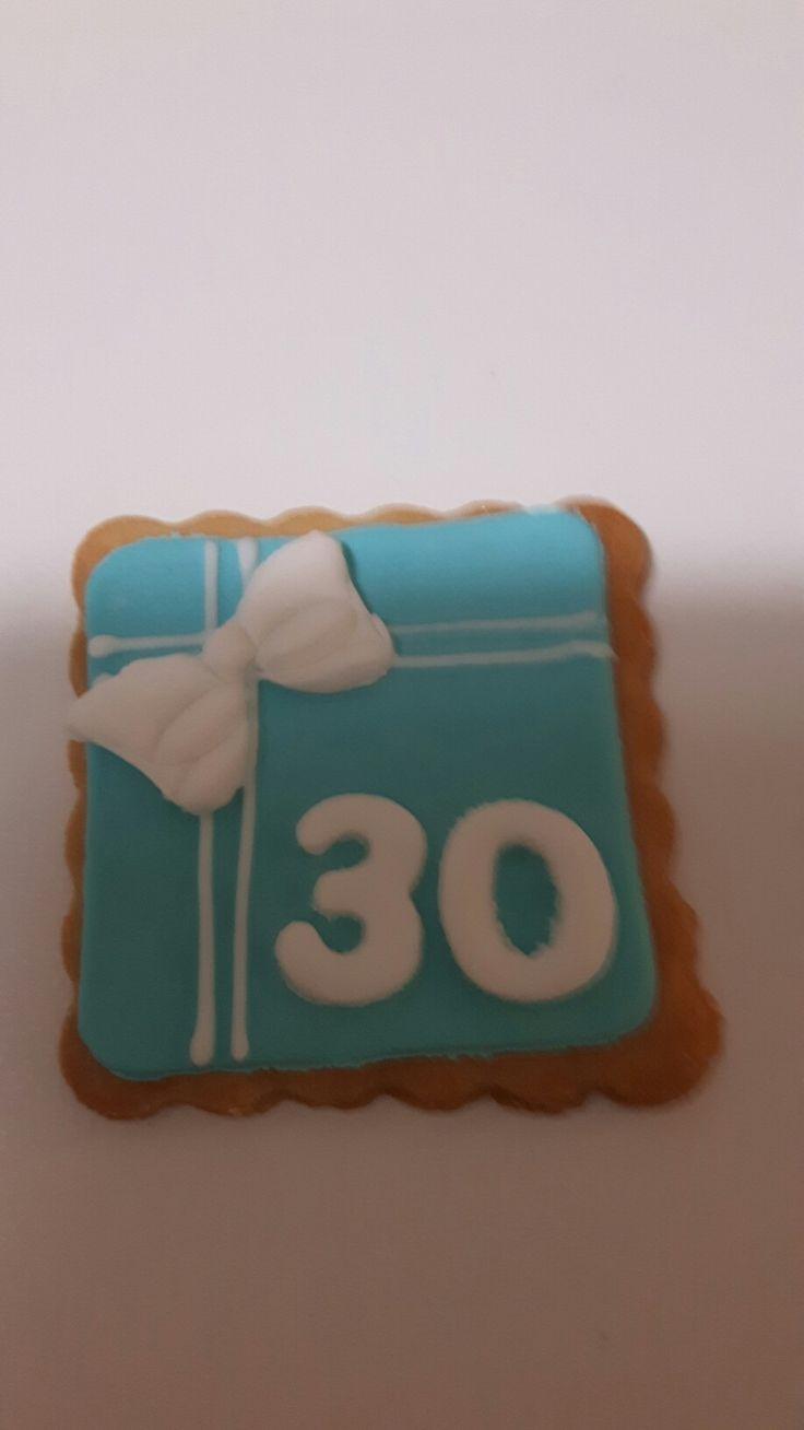 Biscotto 30 compleanno tiffany