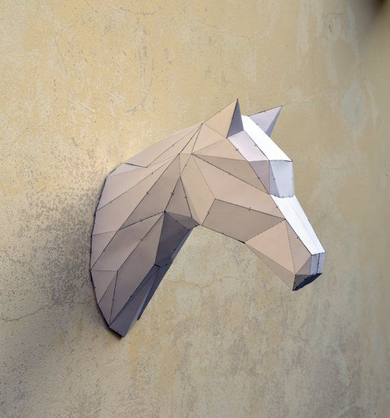 Make Your Own Horse Sculpture. | Horse | Stallion | Animal Sculpture | Horse Papercraft | Wild West | black horse | Zorro