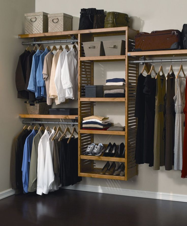 Closet & Storage : Simple Wall Mounted Wooden Shelving Ideas For ...
