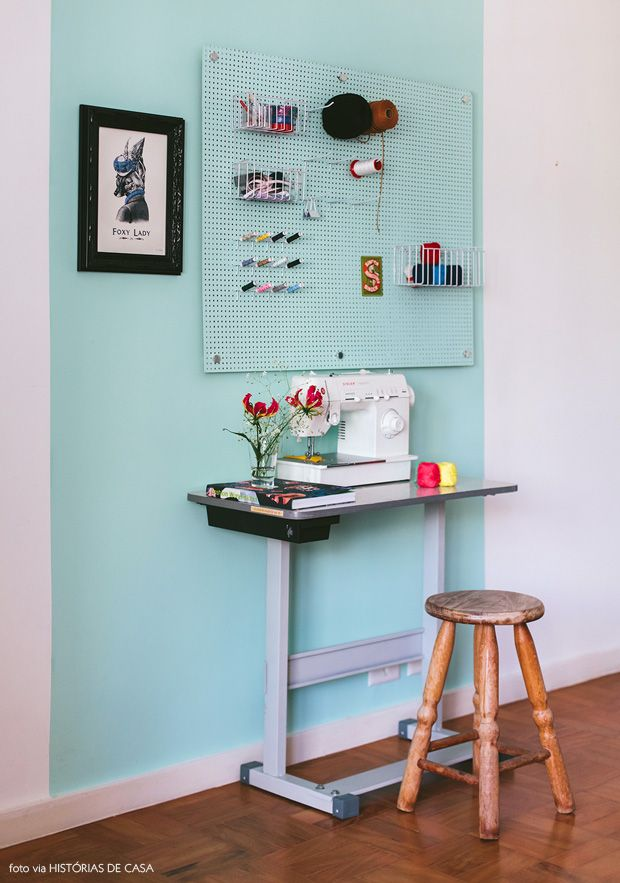 pegboard wall #decor #pintura #walls #paredes #eucatex
