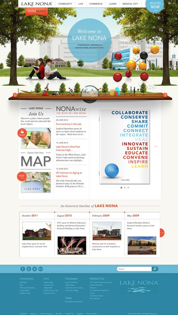 Lake Nona - learnlakenona.com Site Resdesign