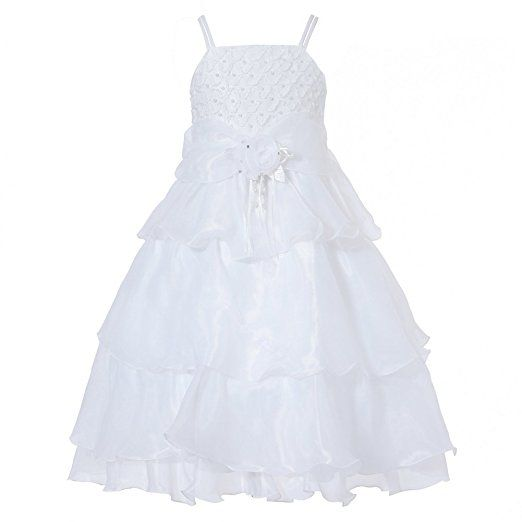 Vestito a strati Richie Casa Girls 'con Rosetta e Pearl RH0918-A-10/11: Amazon.it: Abbigliamento