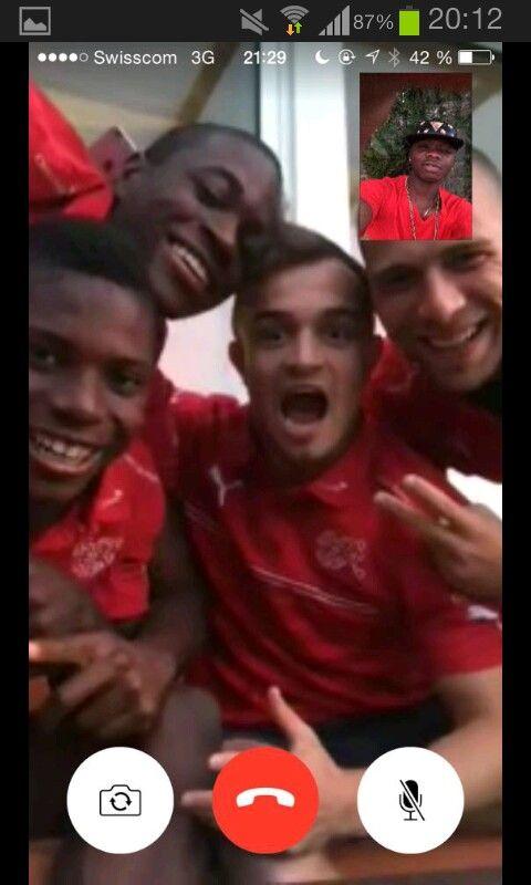 Swiss Football Team ⚽ Yvon Mvogo, Breel Embolo, Xherdan Shaqiri and Pajtim Kasami ♡