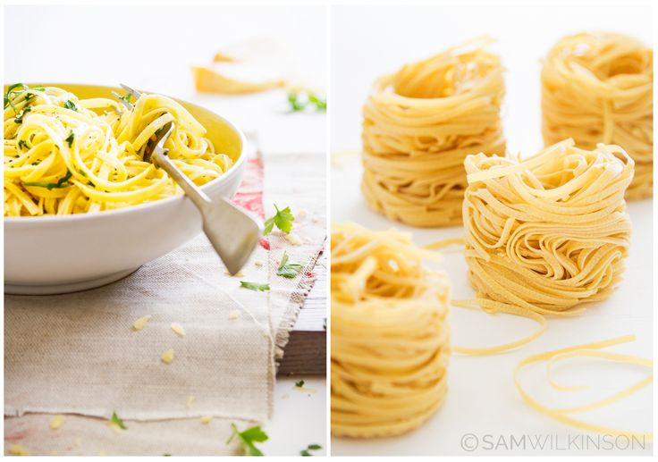 Food Photography Fettuccine