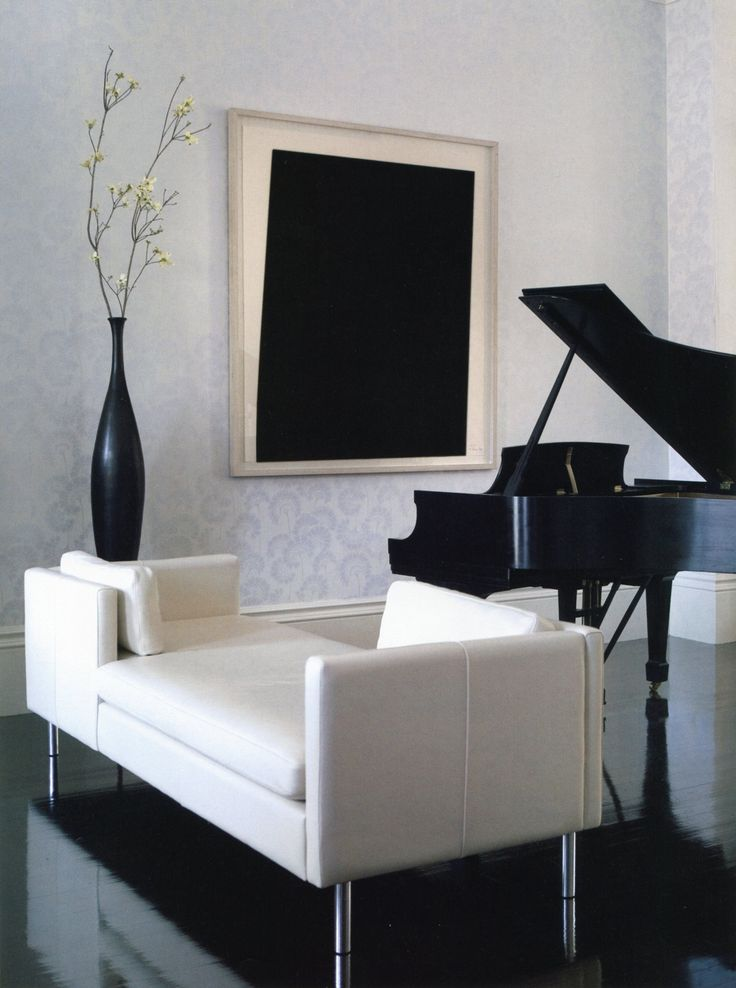Music room - sleek and sophisticated (black & white)