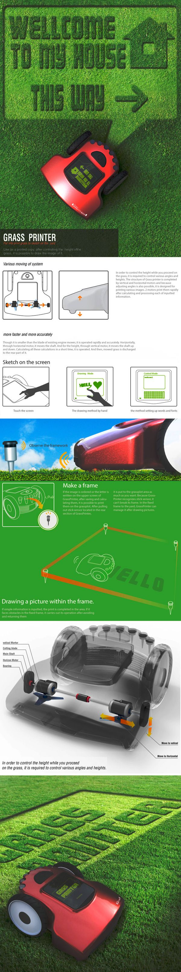 Grass Printer For Lawnly Creatives by yank design