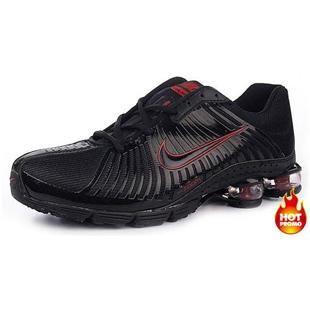 www.asneakers4u.com Mens Nike Shox R4 Black Red