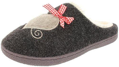 Oferta: 21.99€. Comprar Ofertas de MIK Funshopping - Pantuflas Mujer , color negro, talla 39 barato. ¡Mira las ofertas!