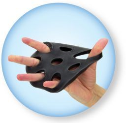 TheraBand® Hand Xtrainers kézerősítő, fekete // TheraBand® Hand Xtrainers, handtrainer, black
