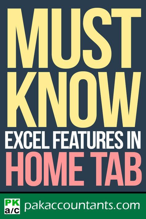 10+ Excel features in Home tab that every beginner MUST learn
