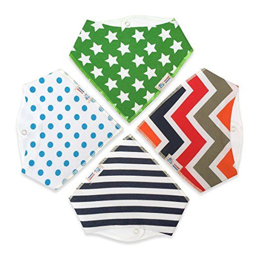 Amazon.com: Baby Bandana Bibs for Drooling and Teething, Unisex Value Packs for Boys and Girls, Organic Cotton with Snaps, Hypoallergenic, Soft and Absorbent, Burp Cloths Perfect for Spit Up, From Clever Momma: Baby