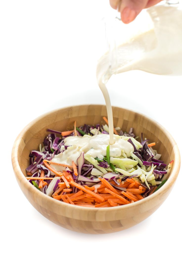 #vegan #coleslaw recipe with yogurt dressing - insalata di cavolo e carote- ricetta coleslaw light con dressing allo yogurt