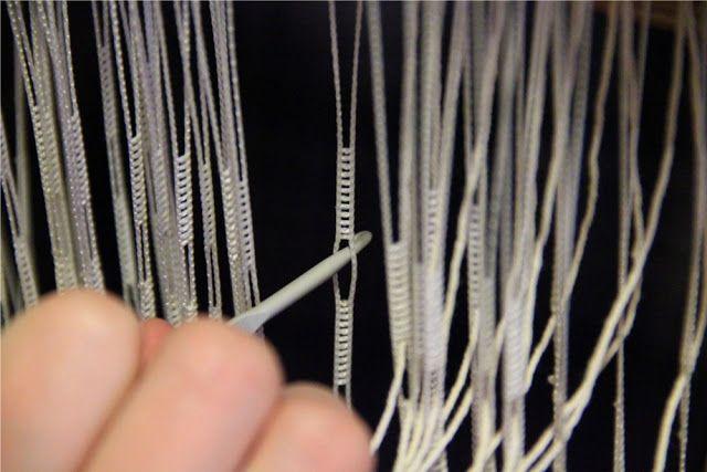 Loimen laittaminen kangaspuihin 2/2 niisiminen