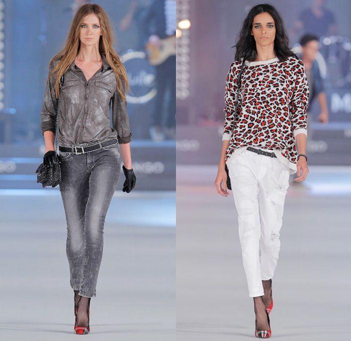 Mango & H.E. by Mango 2013-2014 Fall Winter Runway Collection - 080 Barcelona Fashion Week: Designer Denim Jeans Fashion: Season Collections, Runways, Lookbooks and Linesheets