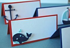 Sailing Party Name Tags, Nautical Party Buffet Tags (set of 6)
