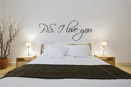 PS I love you vinyl wall decal by jenniferweir4 on Etsy, $6.49