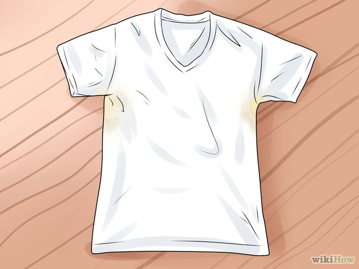 how to remove yellow armpit stains