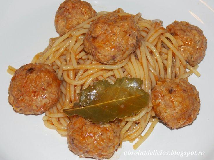 Absolut Delicios - Retete culinare: CHIFTELUTE MARINATE CU SPAGHETE