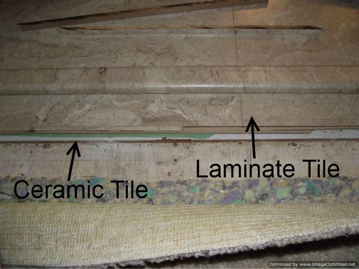 Laminate Tile Flooring In Bathroom Over Ceramic Tile. | Rooms For Dreaming  | Pinterest | Ceramics, Laminate Flooring And Laminate Tile Flooring Part 18