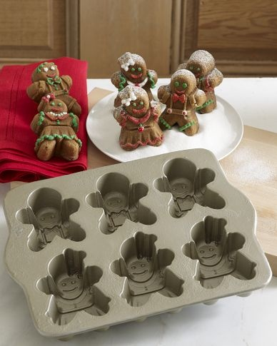 Gingerbread Kids Cakelet Pan In 2019 Baking Tins