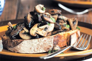 Mixed mushrooms on sourdough