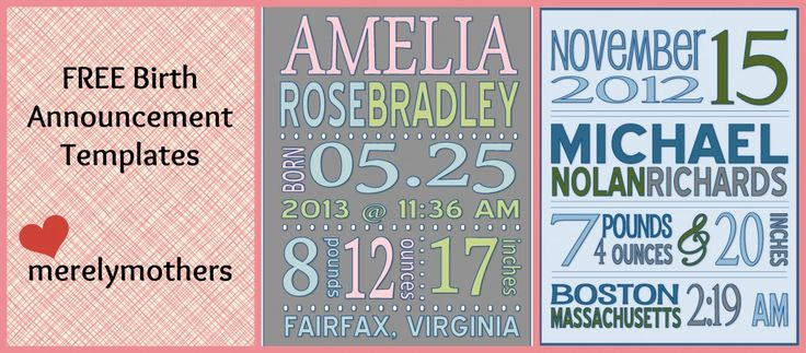17 best ideas about birth announcement template on for Free online birth announcements templates