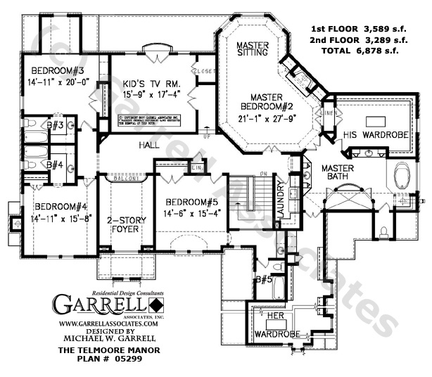 Telmoore Manor 05299 House Plans By Garrell