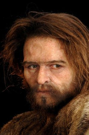 Élisabeth Daynès - Reconstruction of a Cro-Magnon hunter based on a 30,000 year old fossil found at Eyzies-de-Tayac in France.