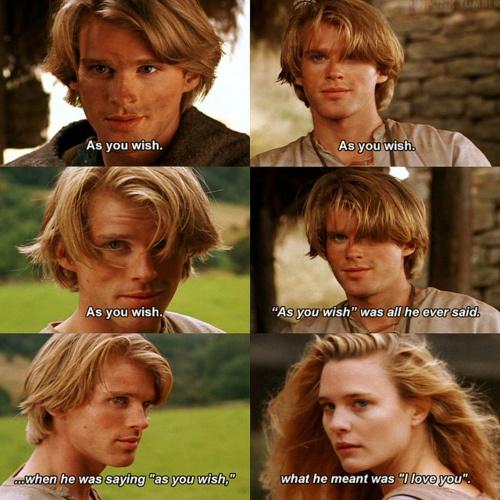 As you wish... Princess Bride, my brother's favorite movie