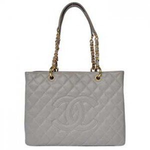 Sacs d'épaule de Chanel Gris Goldchain CCS447,sac chanel pas cher  €129.00