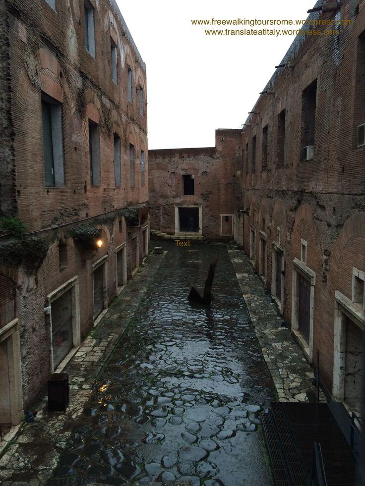 Rome, Mercati di Traiano. Really a beautiful ancient sight.