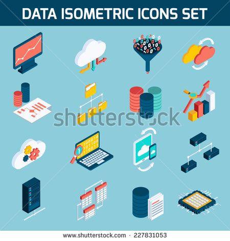 stock-vector-data-analysis-digital-analytics-data-processing-icons-isometric-set-isolated-vector-illustration-227831053.jpg (450×470)