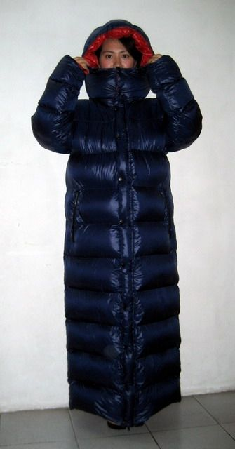 Neu unisex Glanznylon Winterparka Daunenparka Wetlook Wintermantel Daunenmantel 2XL