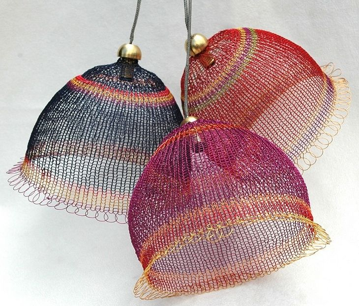 Knitting With Metal Wire : Wire knit lightshades lampshade pinterest
