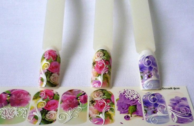 #3dArt #3dPrint #flowers #Rose #Etsy #manicure #naildecals