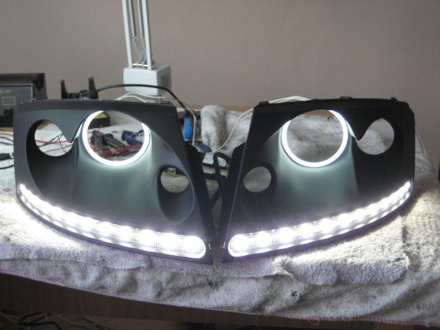 Pair of LED DRLs with angel eyes - Audi TT