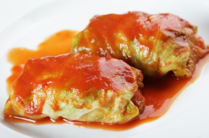 Stuffed cabbage rolls from 52menus52weeks.com