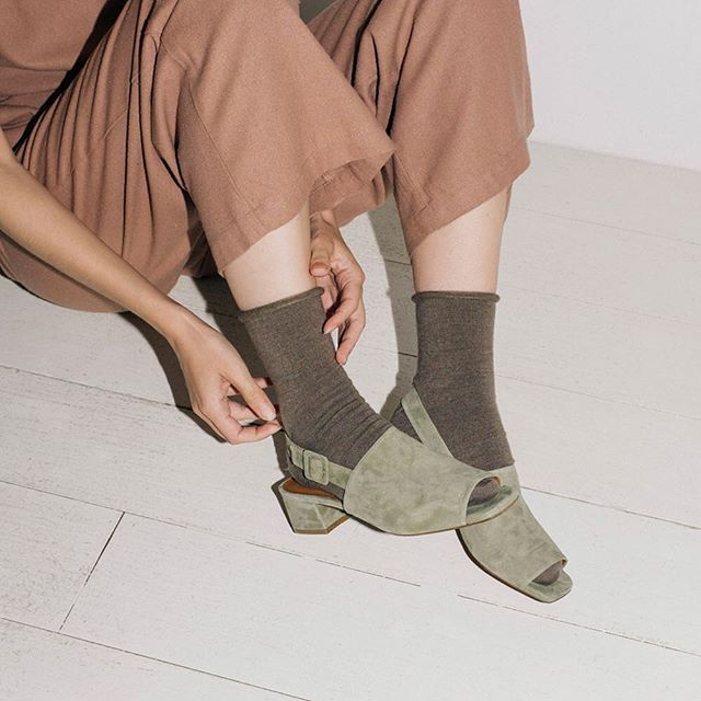 Rich neutrals #socks #sandals #style #thedreslyn