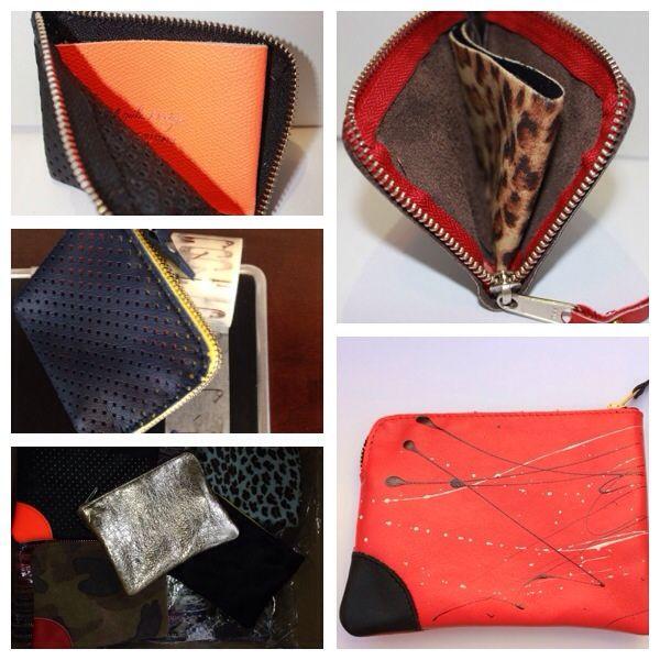 Portafoglio , mini pochette unisex #top #wallet #leather