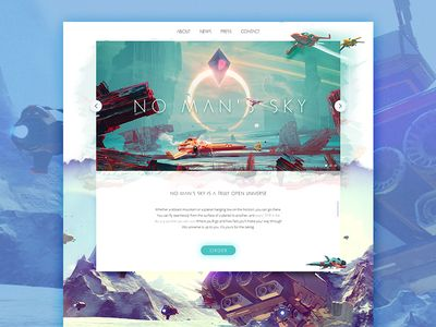 No man's sky website by Malte Westedt